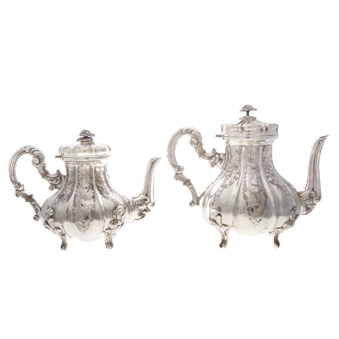 Italian silver 4-piece coffee & tea service - 2