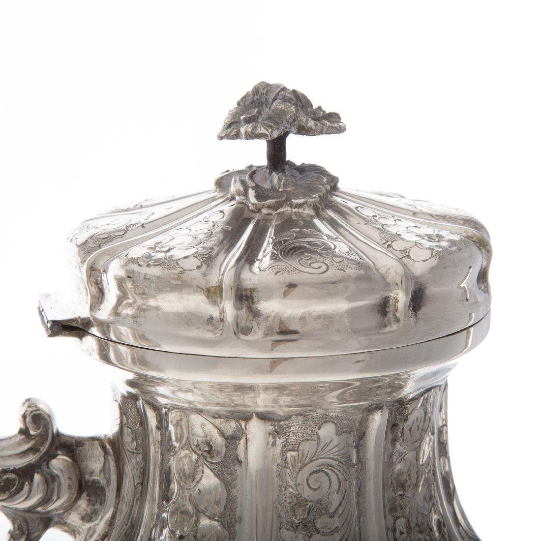 Italian silver 4-piece coffee & tea service - 3