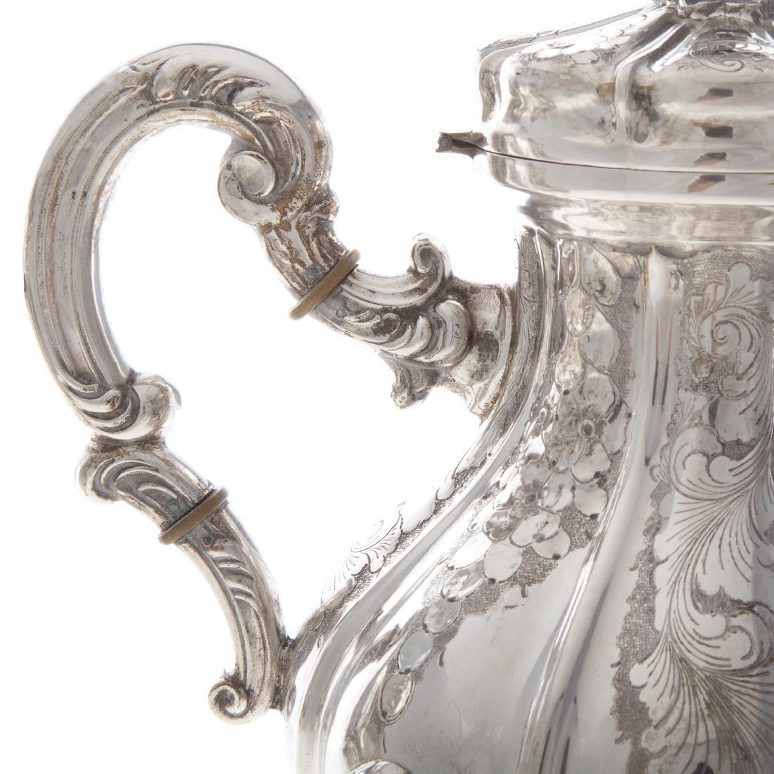 Italian silver 4-piece coffee & tea service - 4
