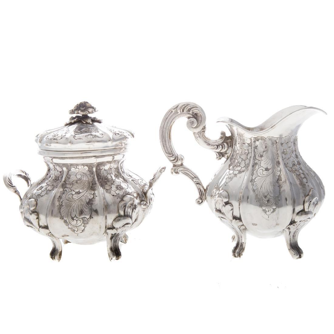 Italian silver 4-piece coffee & tea service - 5