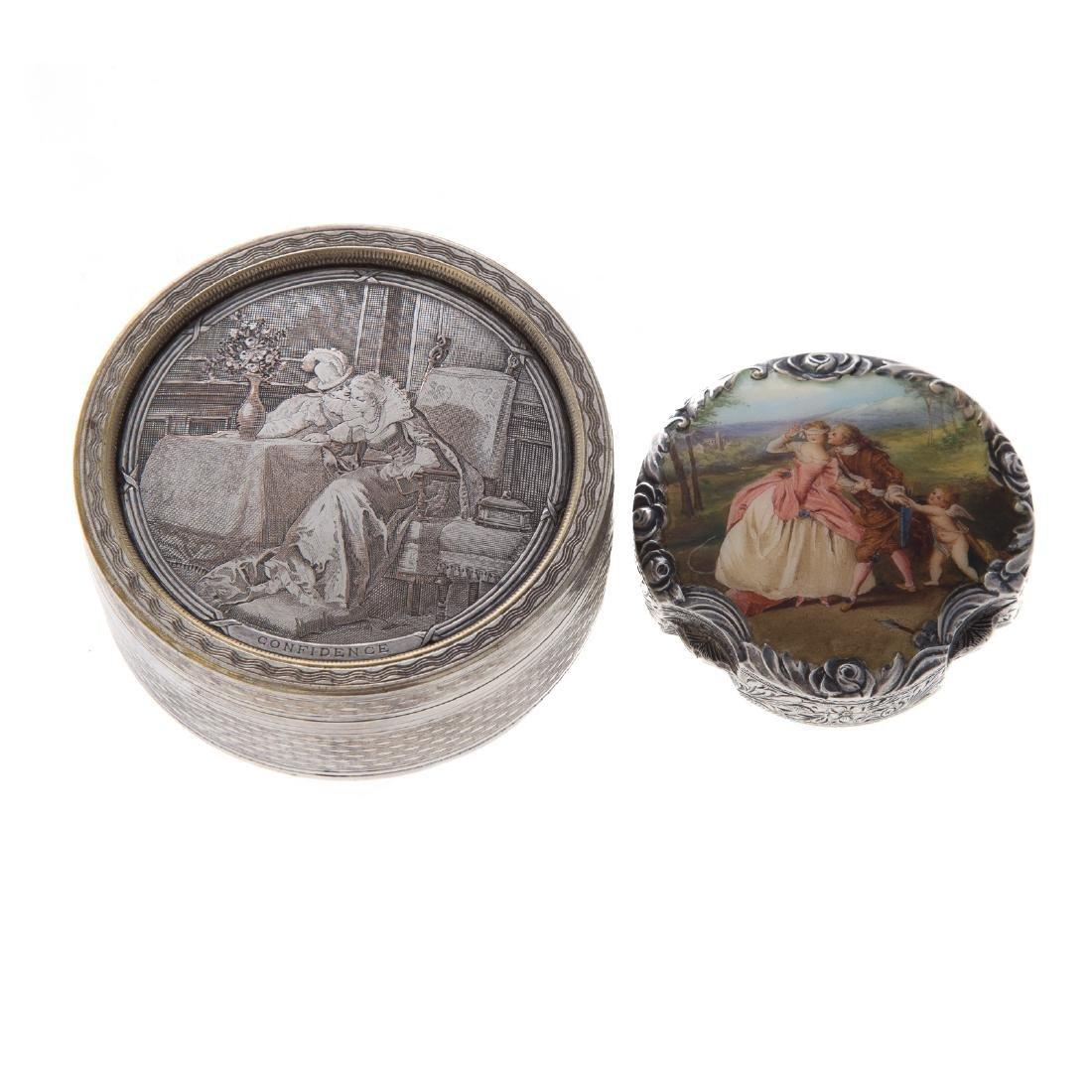 Trio of Victorian silver dresser boxes - 3