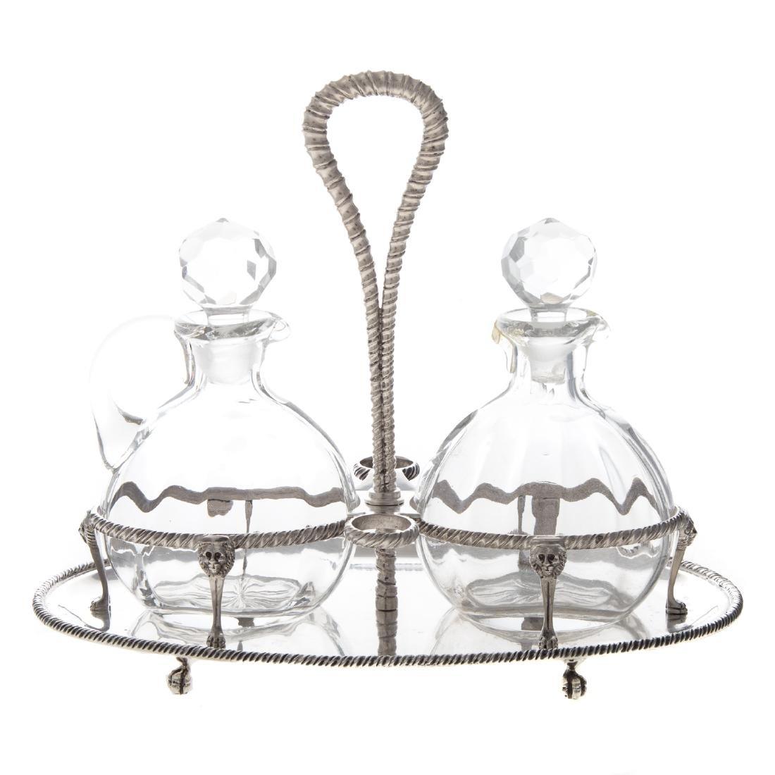 Buccellati sterling silver cruet stand