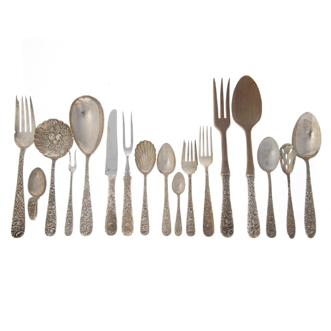 "Kirk ""Repousse"" sterling 51-pc flatware"