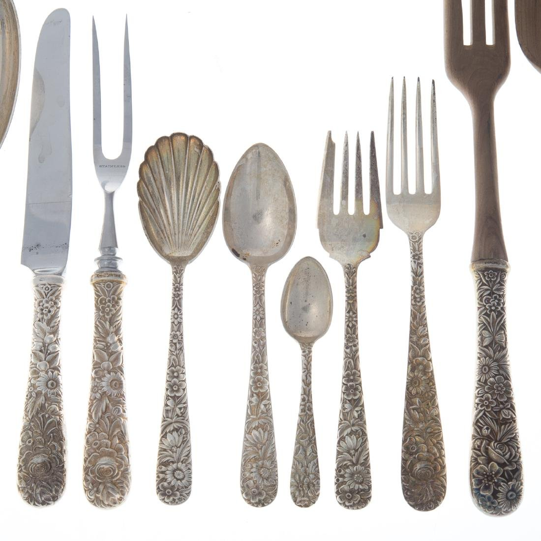 "Kirk ""Repousse"" sterling 51-pc flatware - 2"