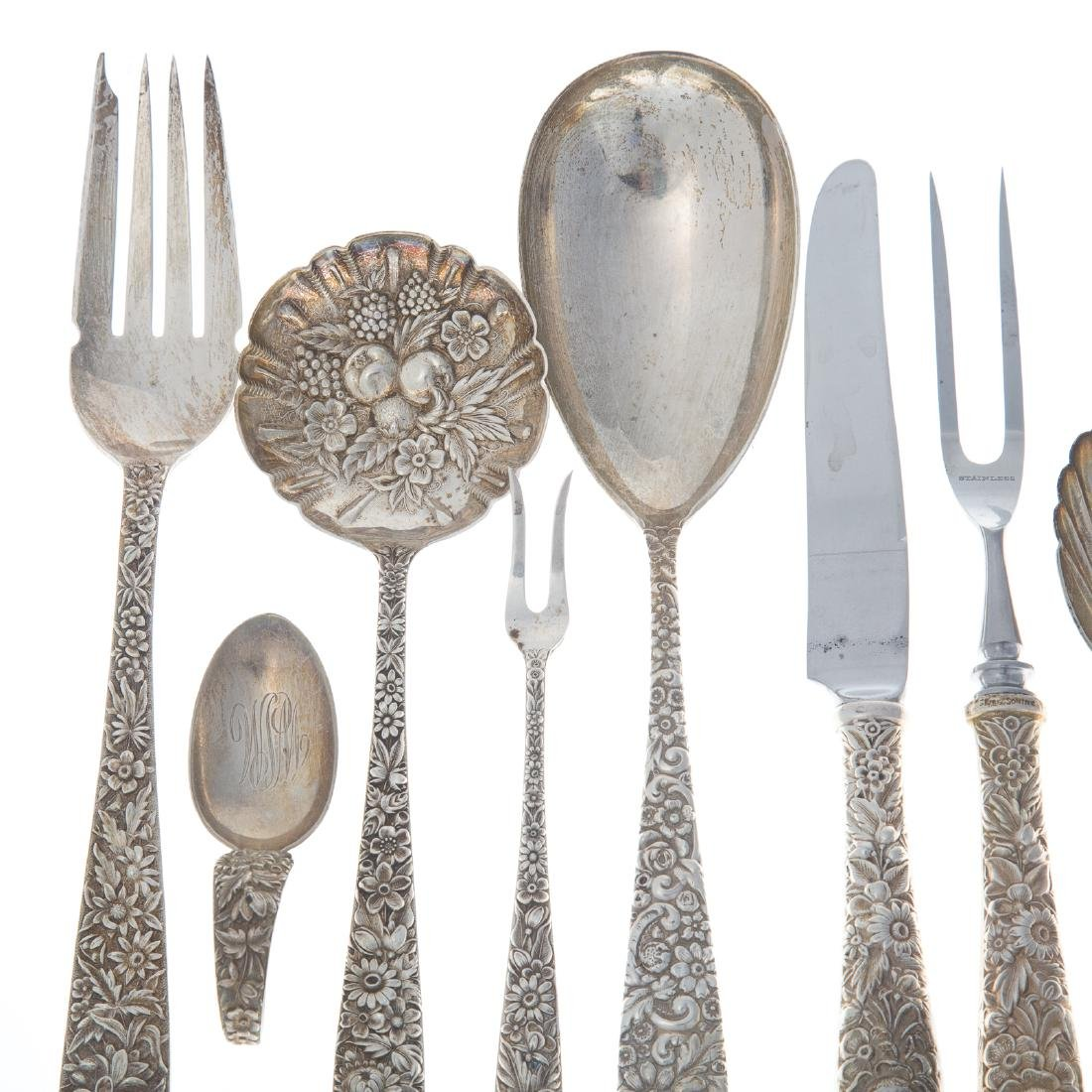 "Kirk ""Repousse"" sterling 51-pc flatware - 3"