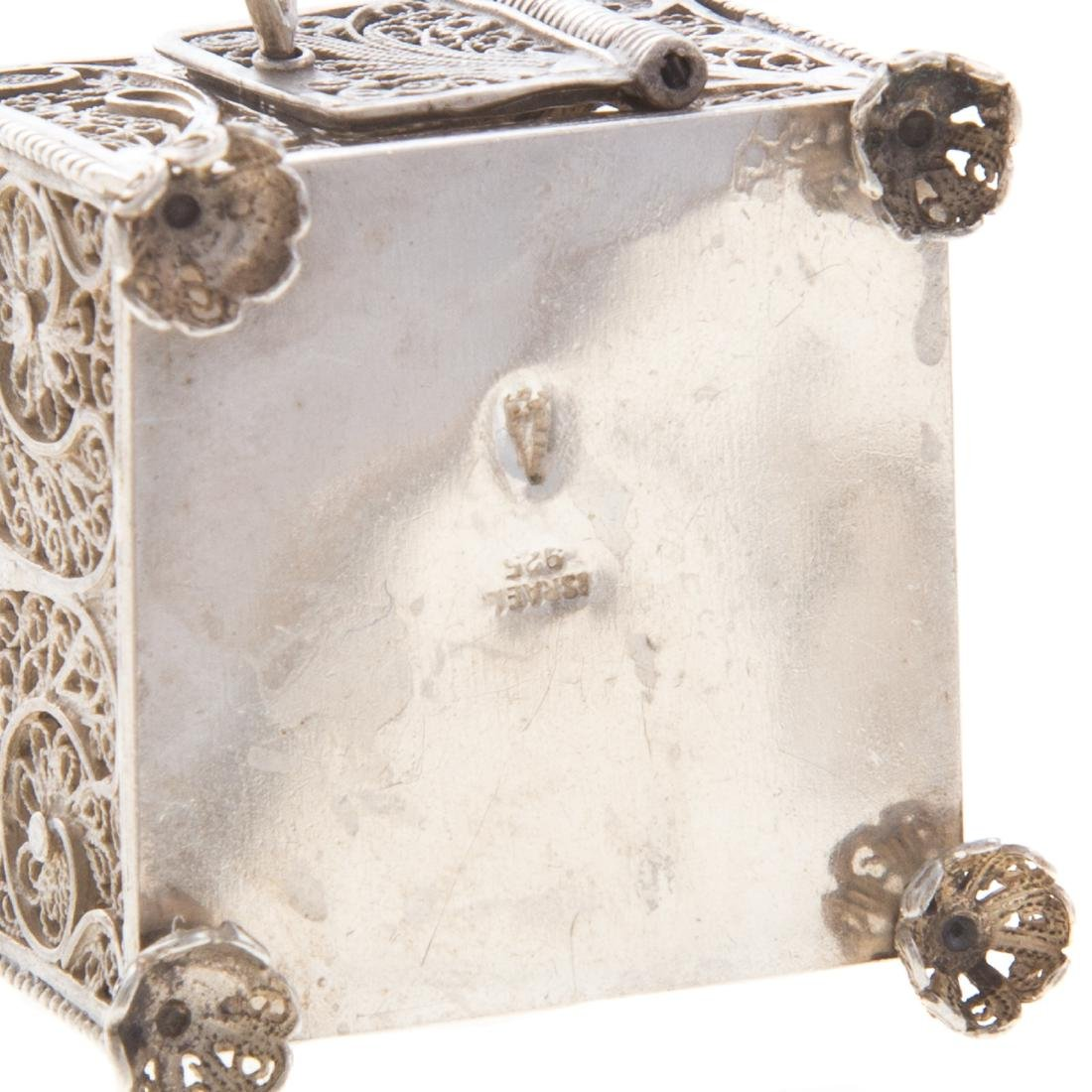 Collection Judaica sterling filigree ritual items - 6