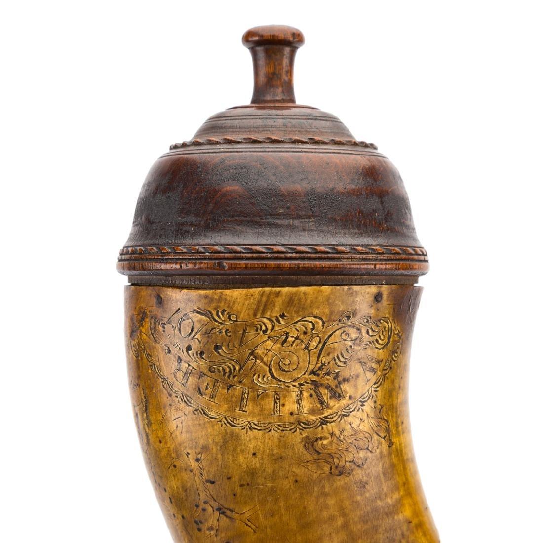 Antique powder horn - 5
