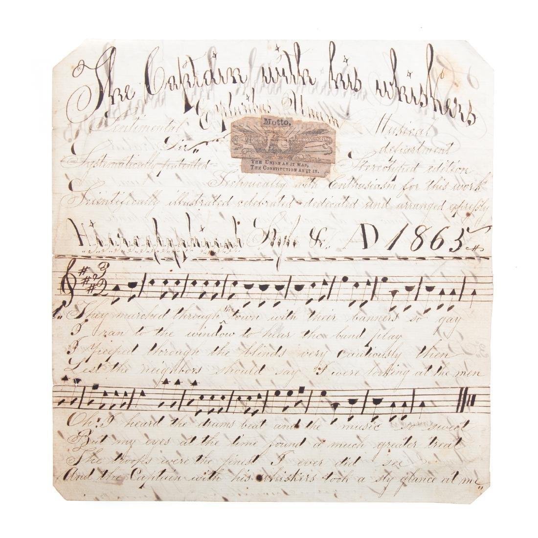 Handwritten song sheet - 2