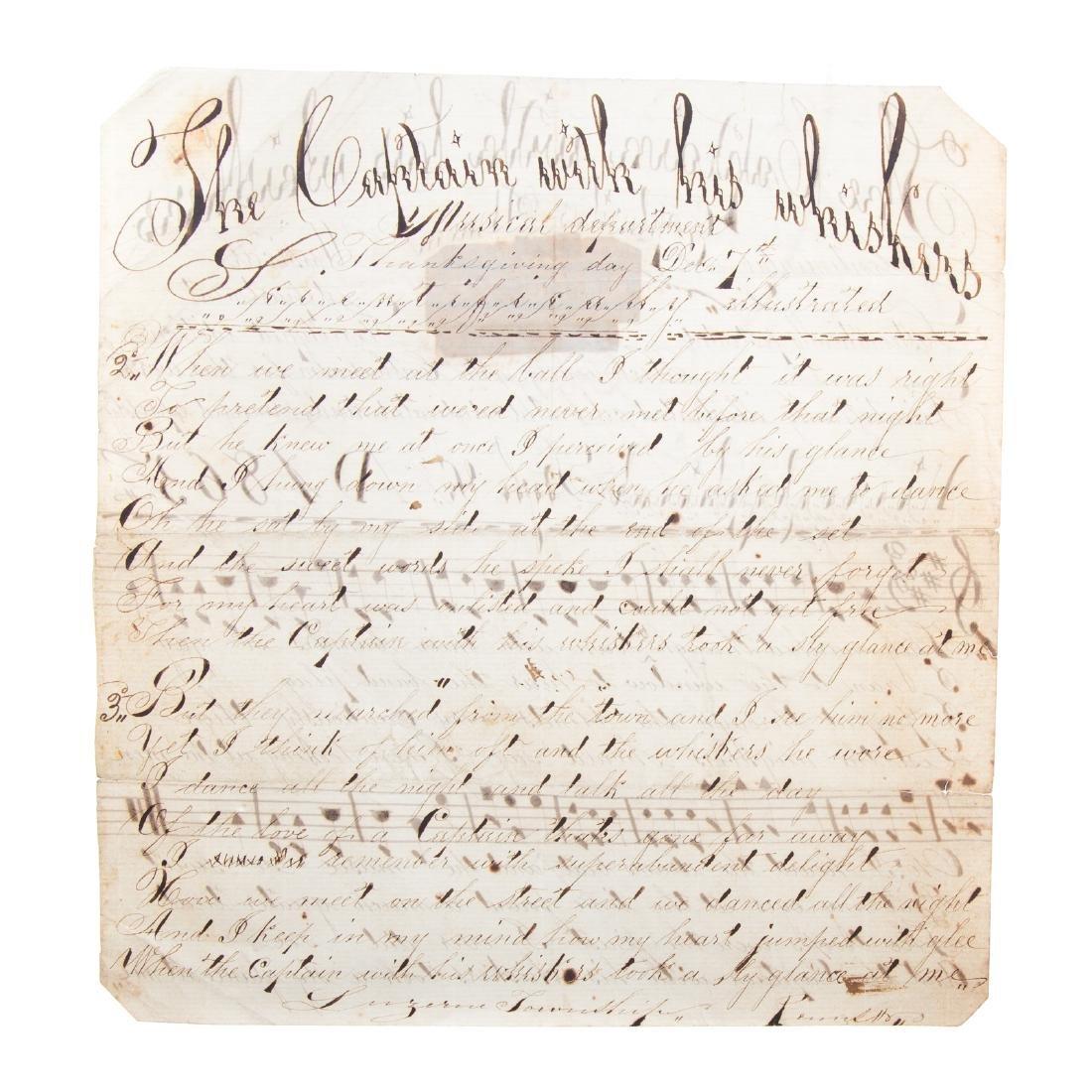 Handwritten song sheet - 4