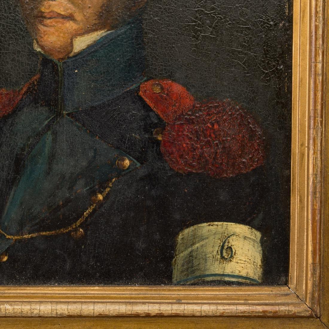 Framed oil on board of a military officer - 3