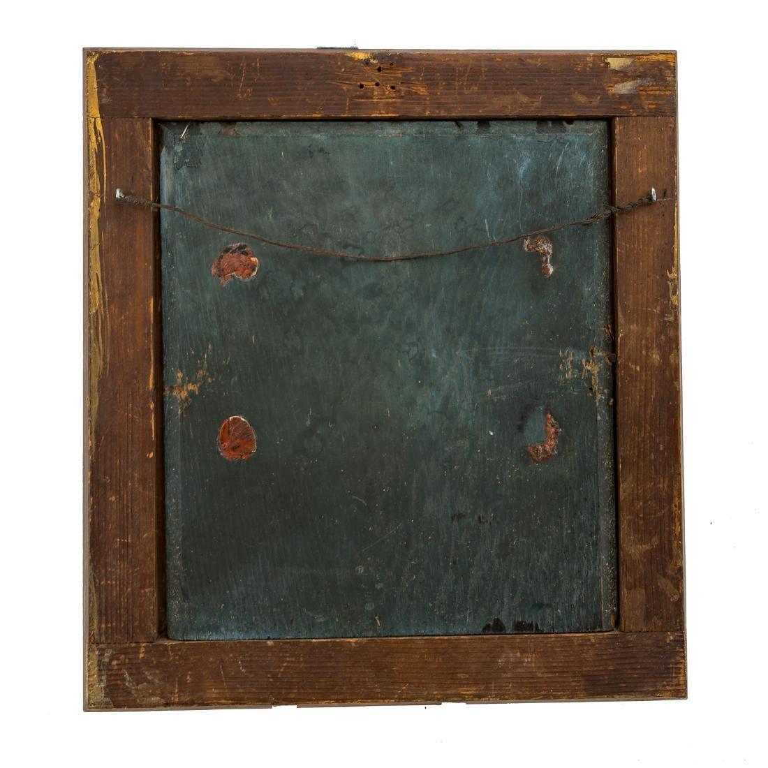 Framed oil on board of a military officer - 4