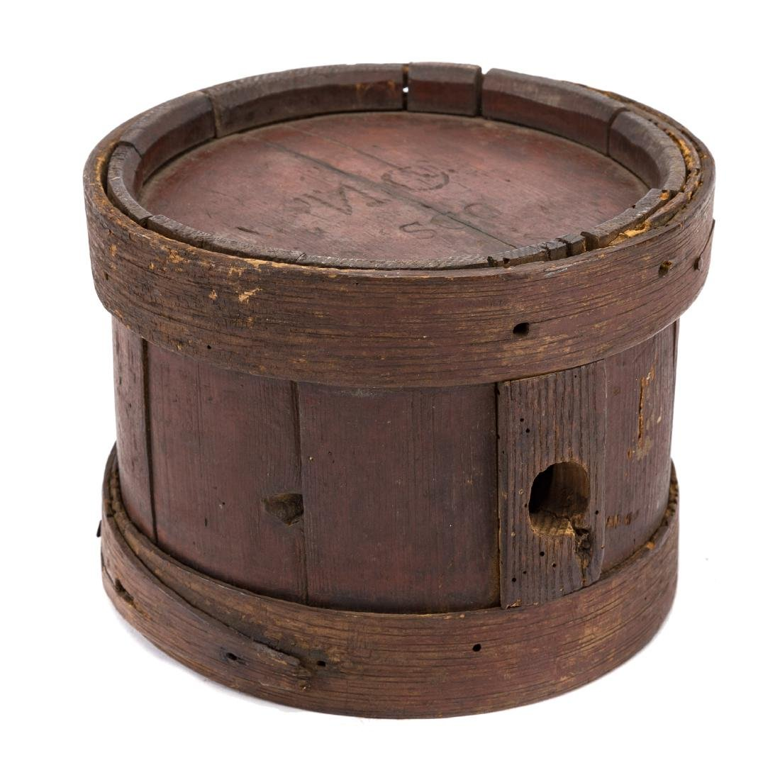 War of 1812 style wood canteen