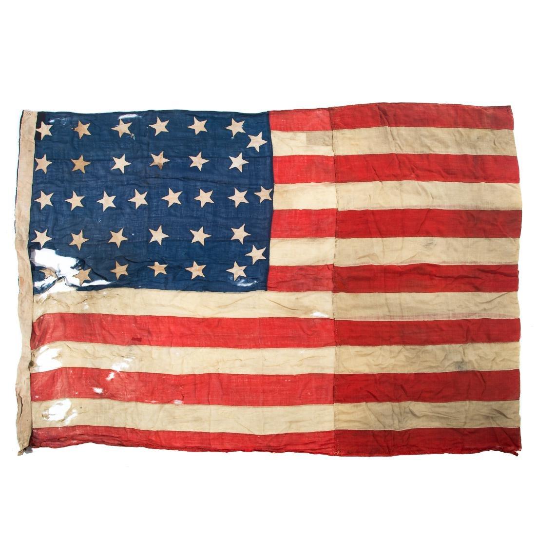 United States 34-star garrison flag