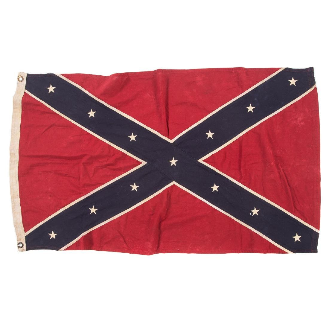 Confederate re-enactors battle flag