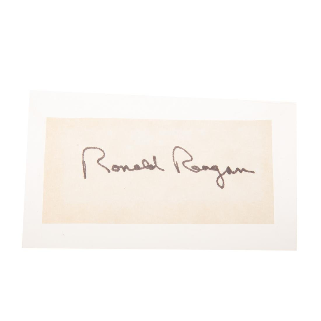 Eight former United States presidents signatures - 5