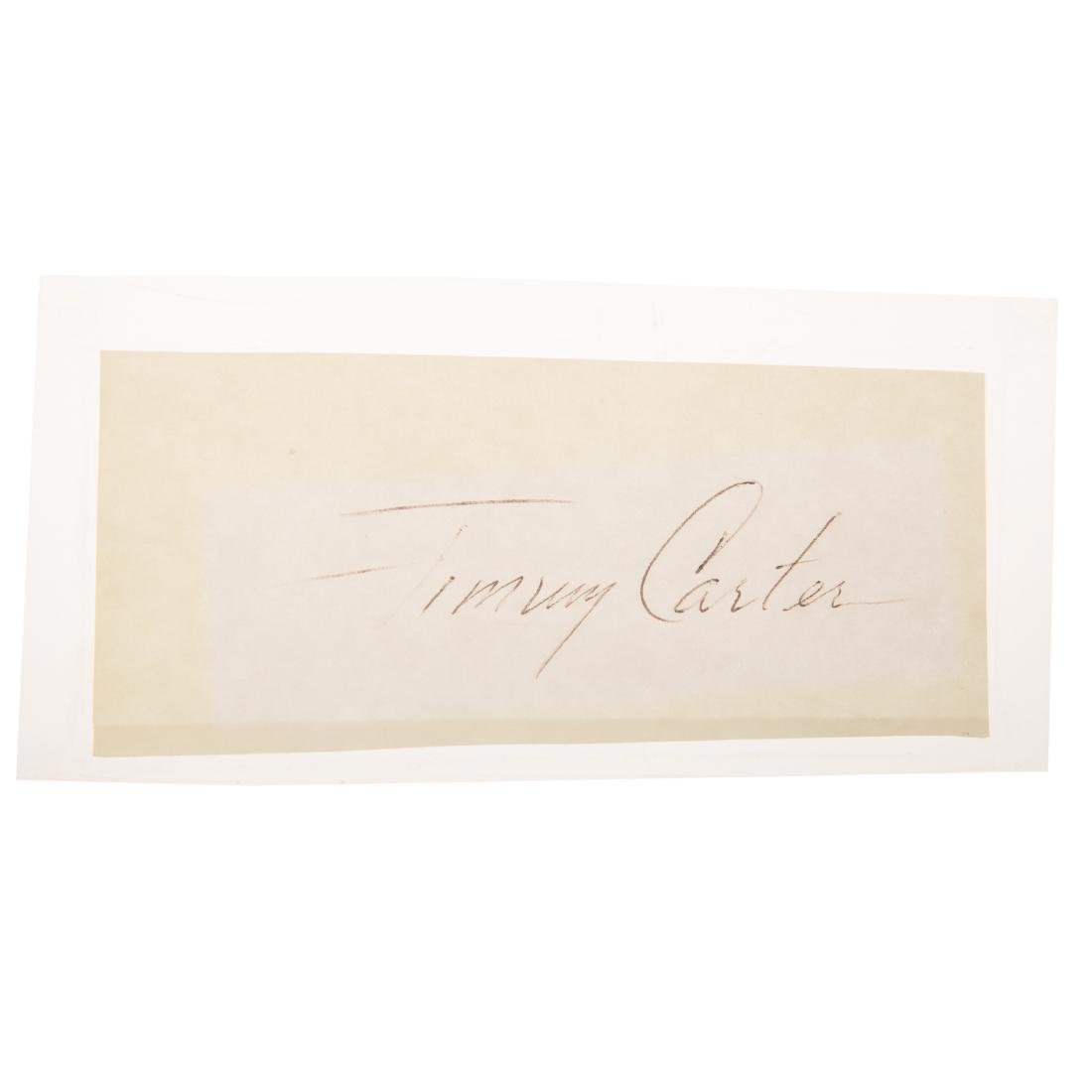Eight former United States presidents signatures - 7