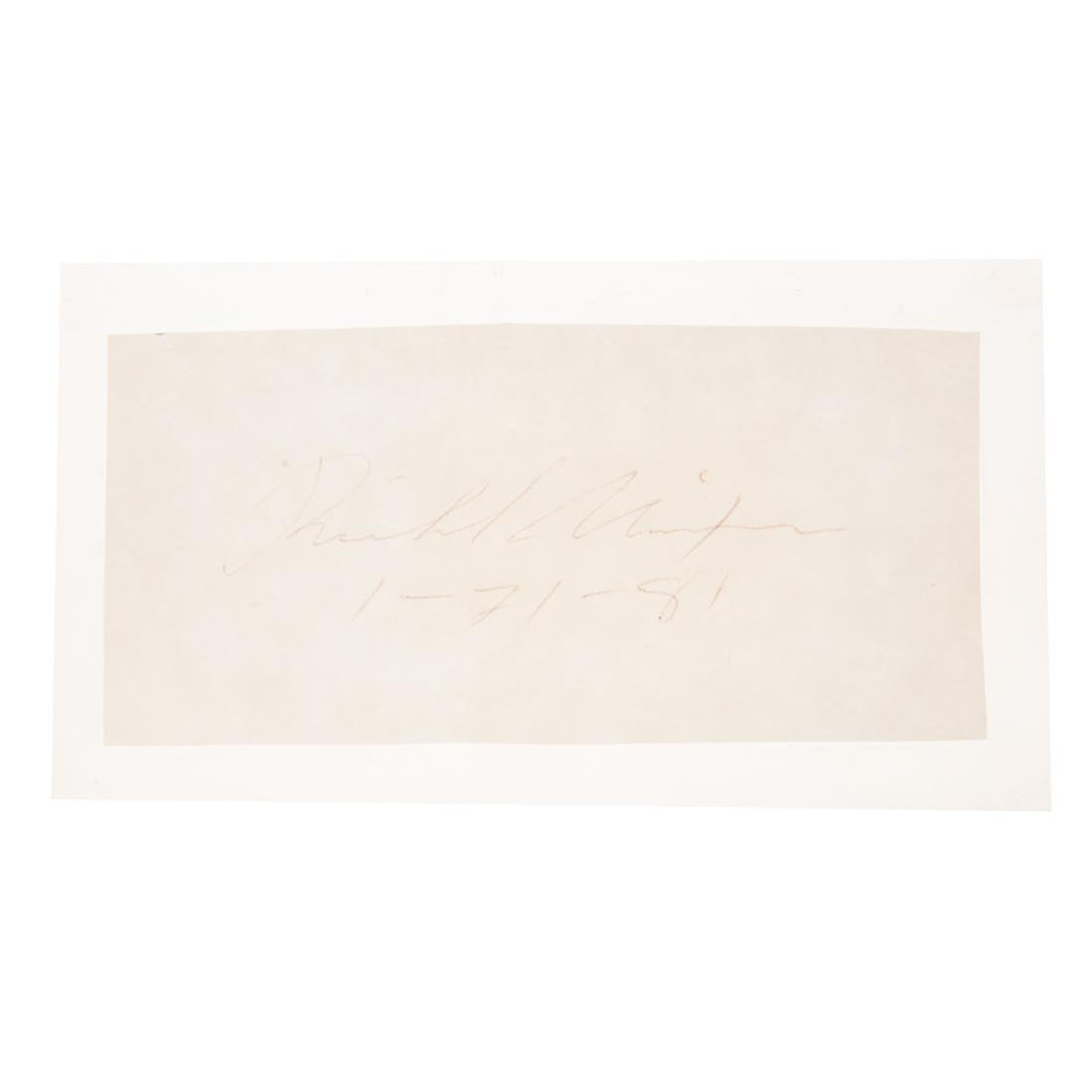 Eight former United States presidents signatures - 8
