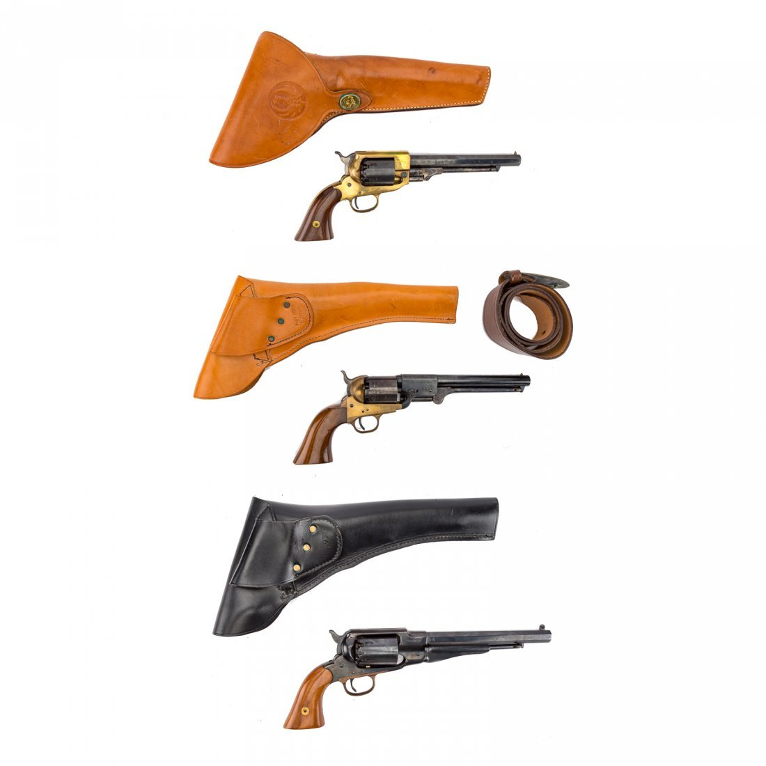 Three Italian repro. Civil War style revolvers