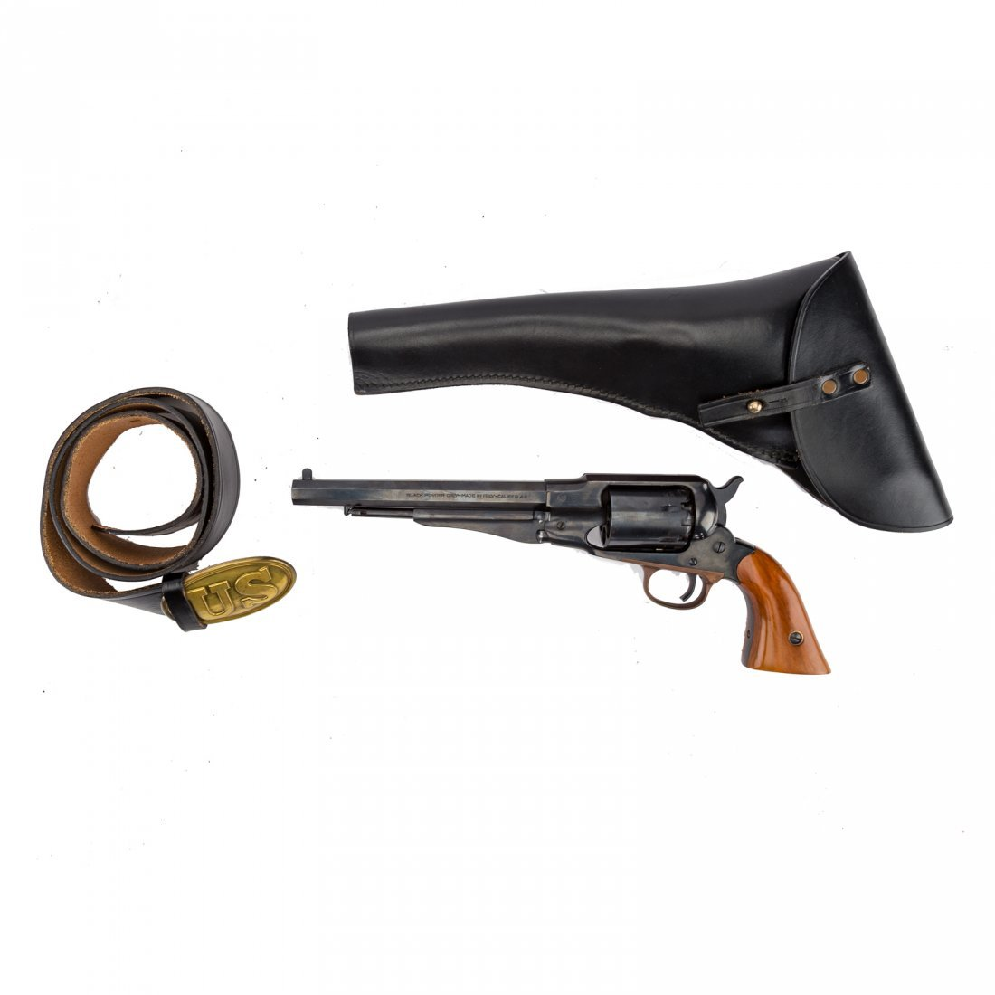 Three Italian repro. Civil War style revolvers - 6
