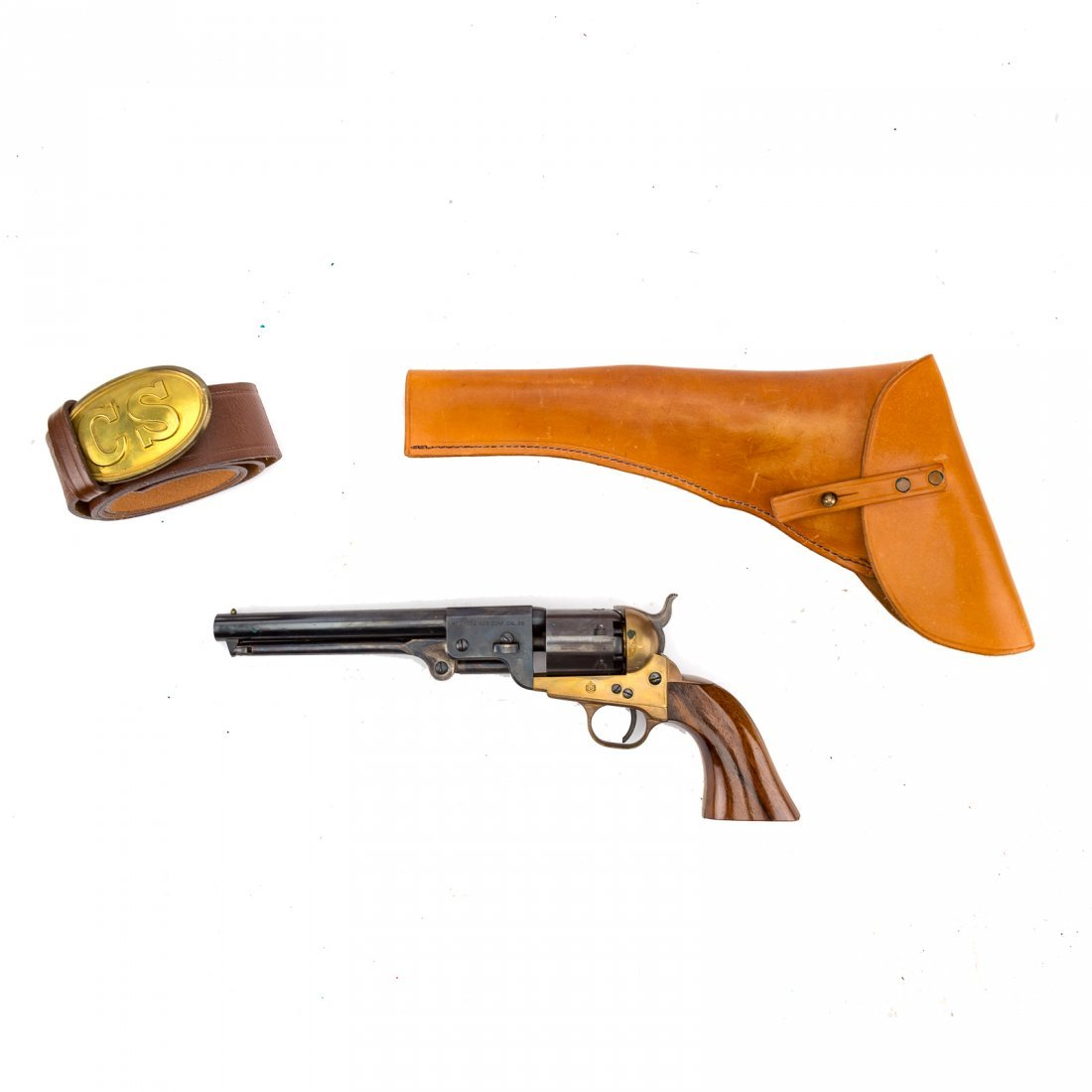 Three Italian repro. Civil War style revolvers - 7
