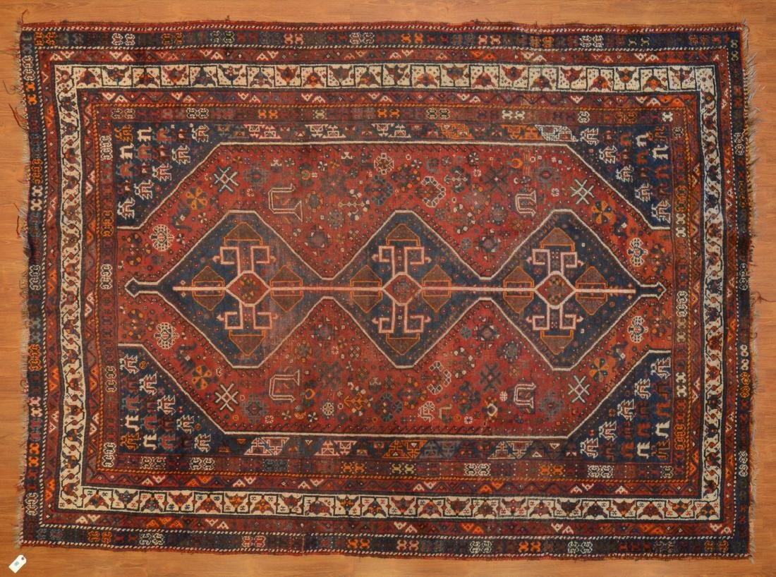 Antique Shiraz rug, approx. 7.8 x 10.4