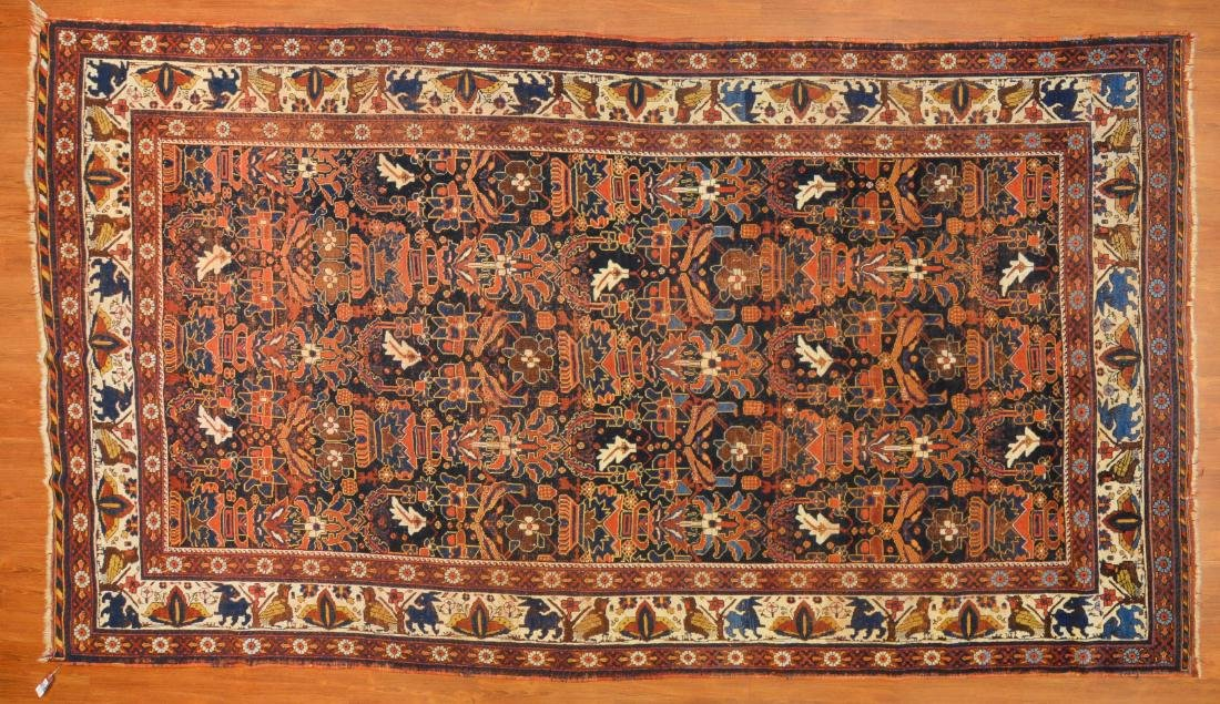 Antique Kashkai rug, approx. 7 x 12.6