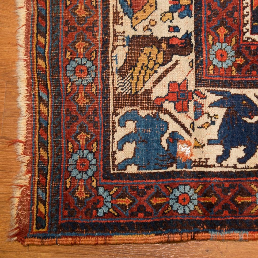 Antique Kashkai rug, approx. 7 x 12.6 - 2