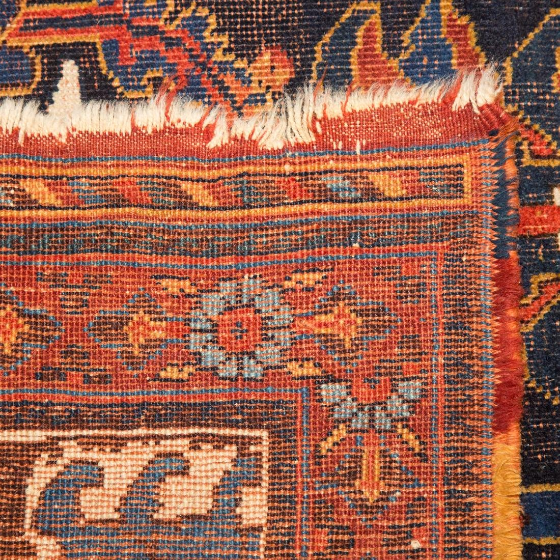 Antique Kashkai rug, approx. 7 x 12.6 - 3