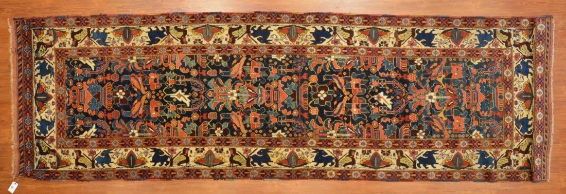 Antique Kashkai runner, approx. 3.10 x 12.4