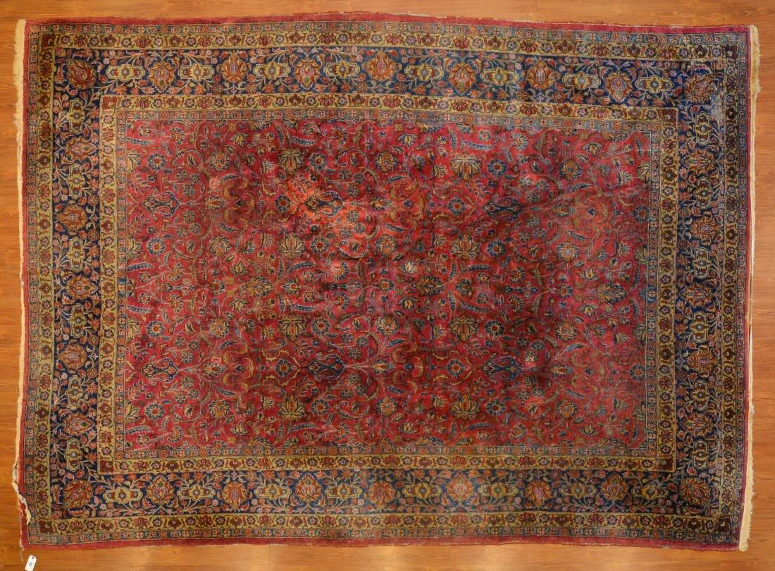 Antique Keshan carpet, approx. 8.9 x 11.11