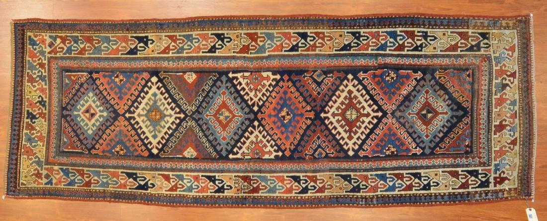 Antique Kazak runner, approx. 4.4 x 9.3