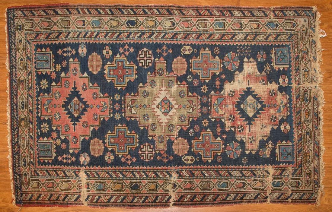 Antique Shirvan rug, approx. 3.5 x 5.3