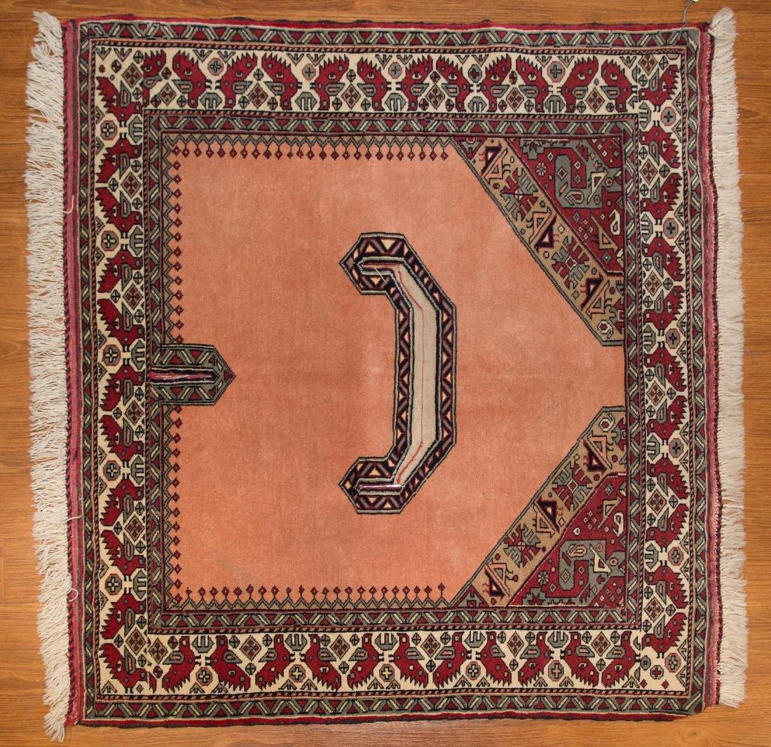 Persian Turkemon rug, approx. 3.7 x 4.3