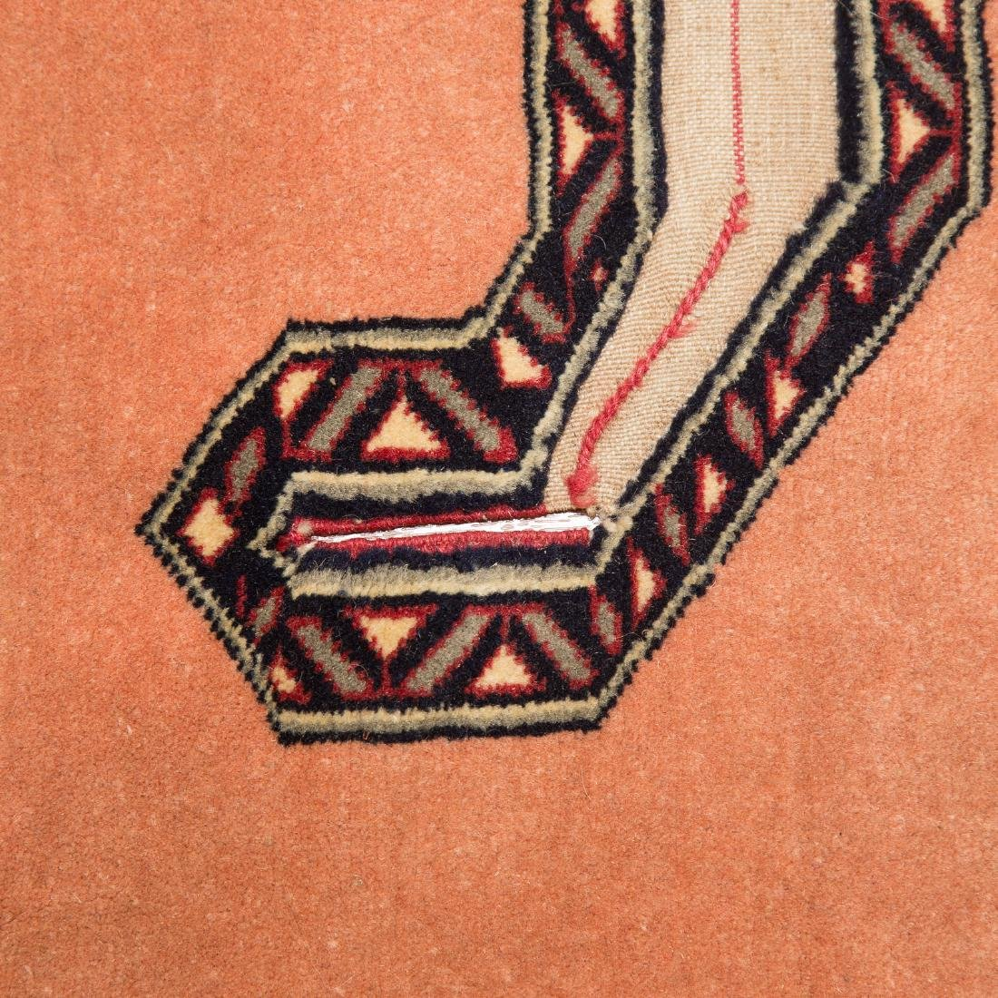 Persian Turkemon rug, approx. 3.7 x 4.3 - 3
