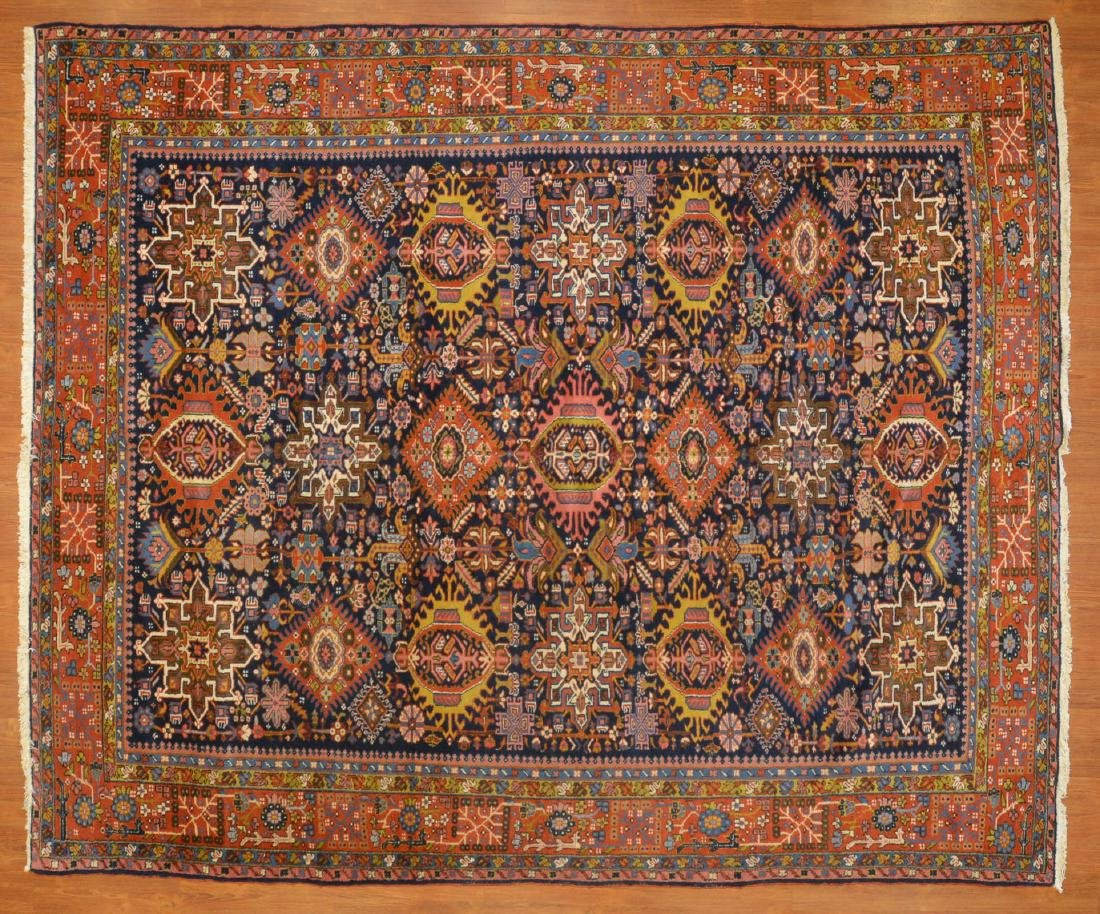 Antique Karaja Herez rug, approx. 8.5 x 10.1