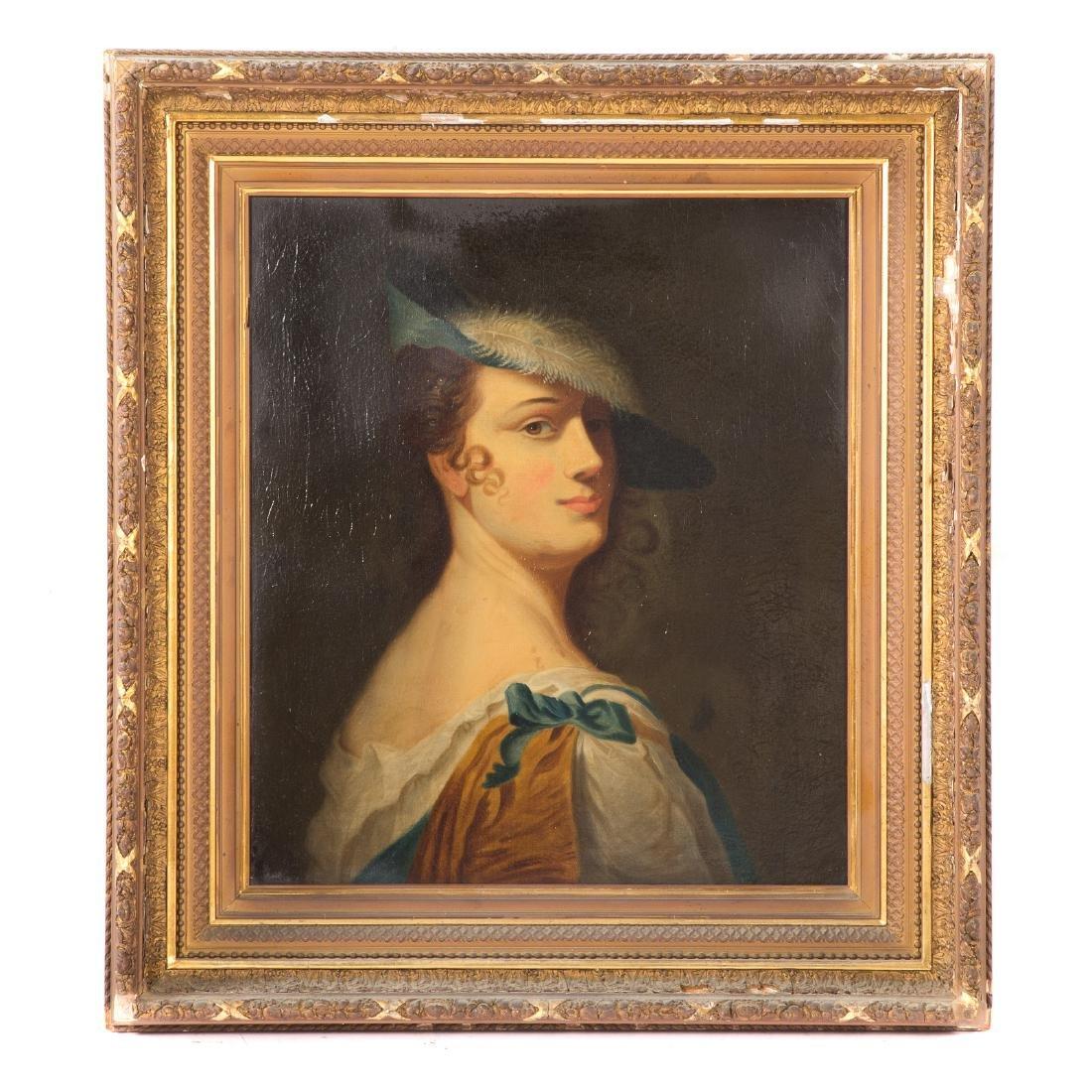 British School, c. 1800. Portrait of a Lady, oil