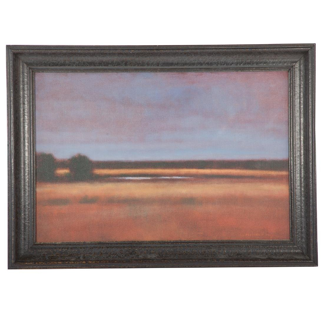 "Kevin Fitzgerald. ""Newark Pond,"" oil on canvas"