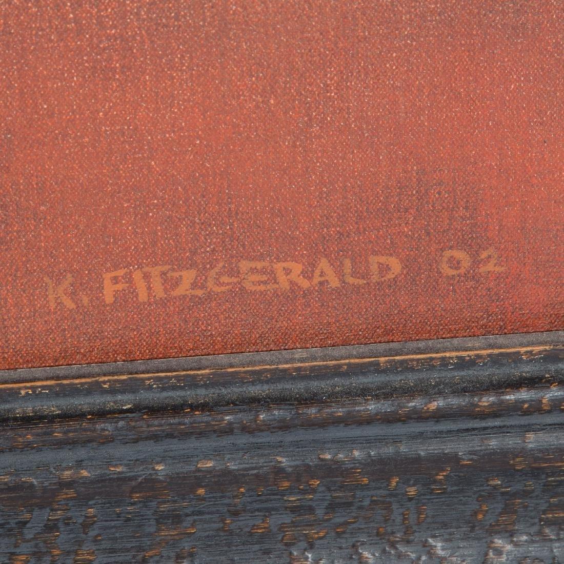 "Kevin Fitzgerald. ""Newark Pond,"" oil on canvas - 3"
