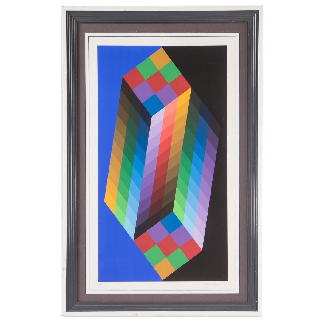 "Victor Vasarely. ""Torony III"", serigraph"