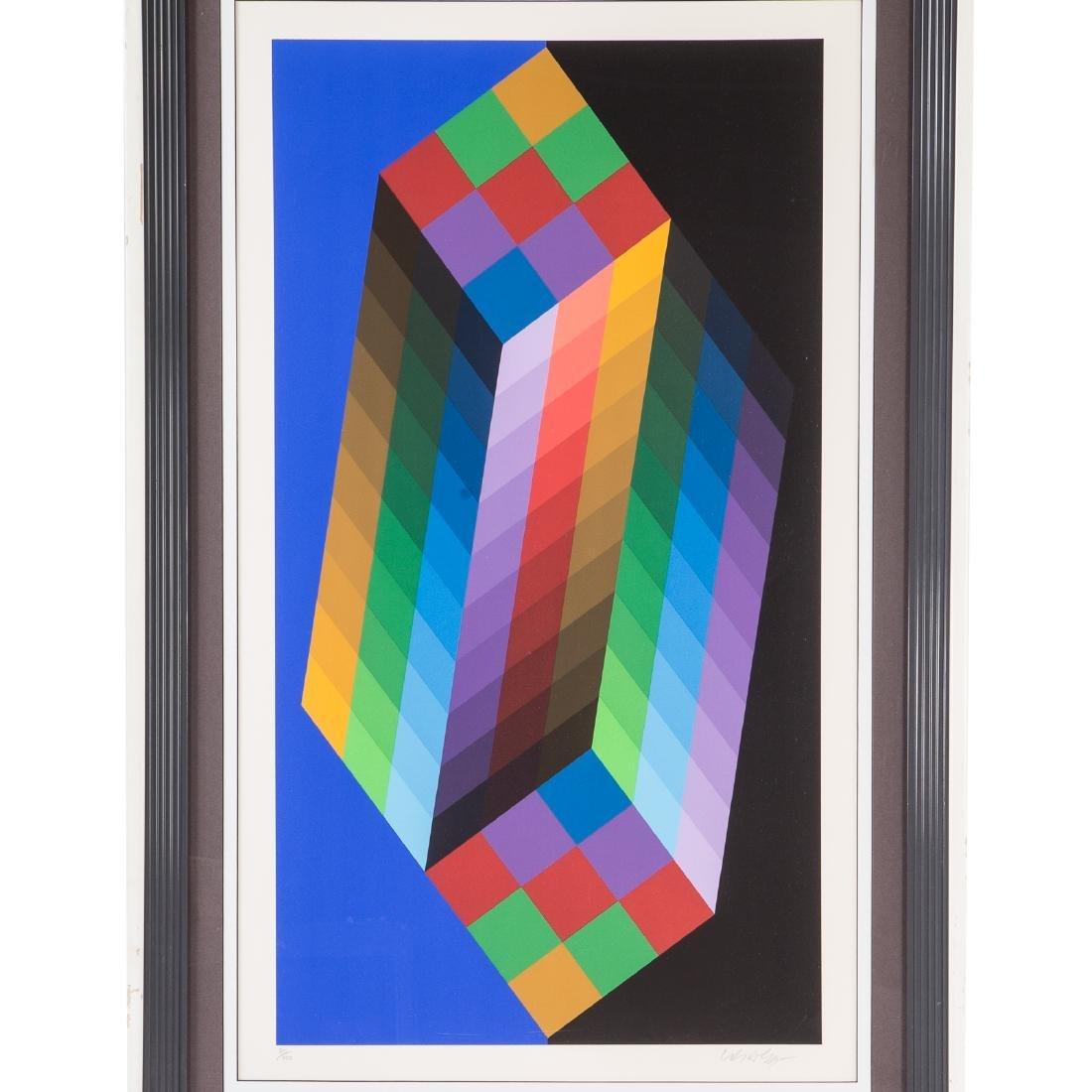 "Victor Vasarely. ""Torony III"", serigraph - 2"