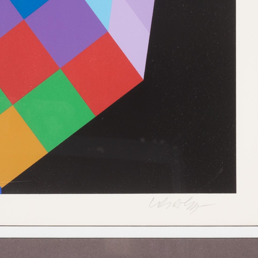 "Victor Vasarely. ""Torony III"", serigraph - 3"