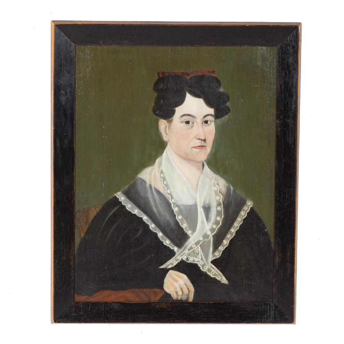 American School, 19th c. Portrait of a Woman, oil