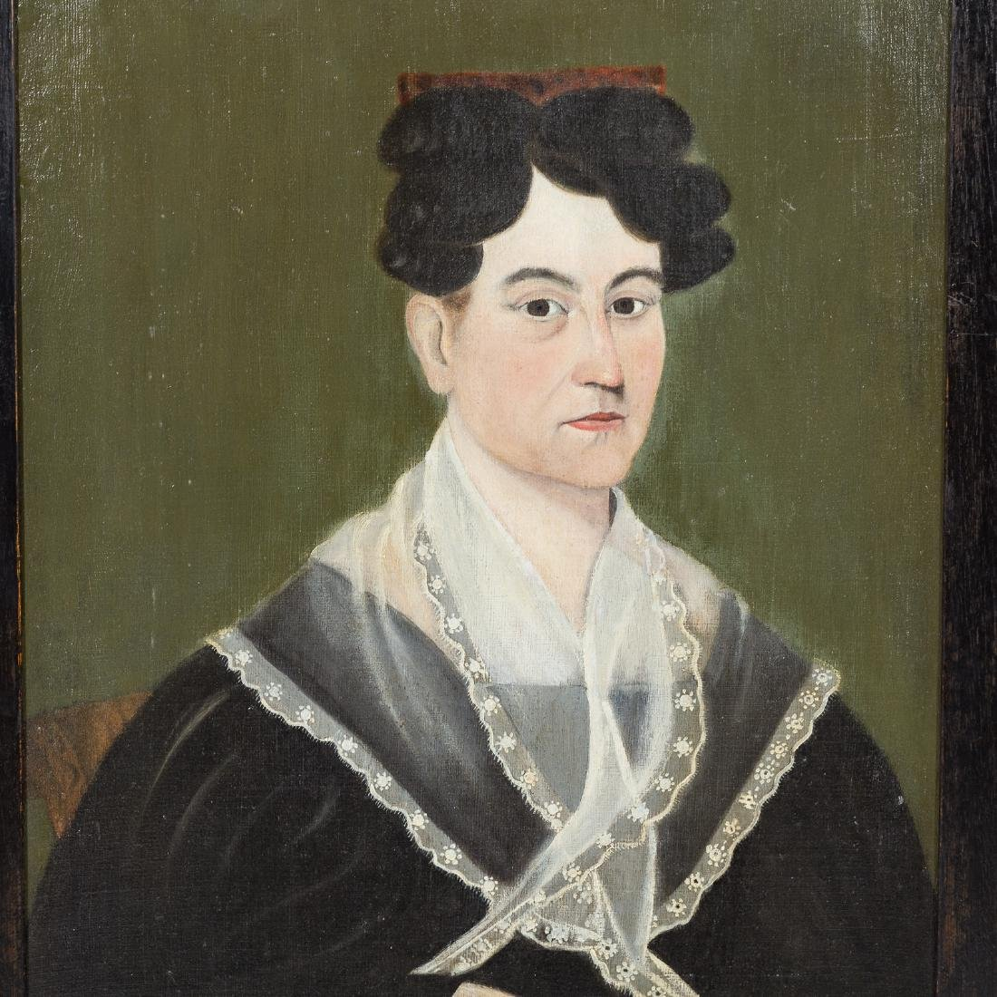 American School, 19th c. Portrait of a Woman, oil - 2