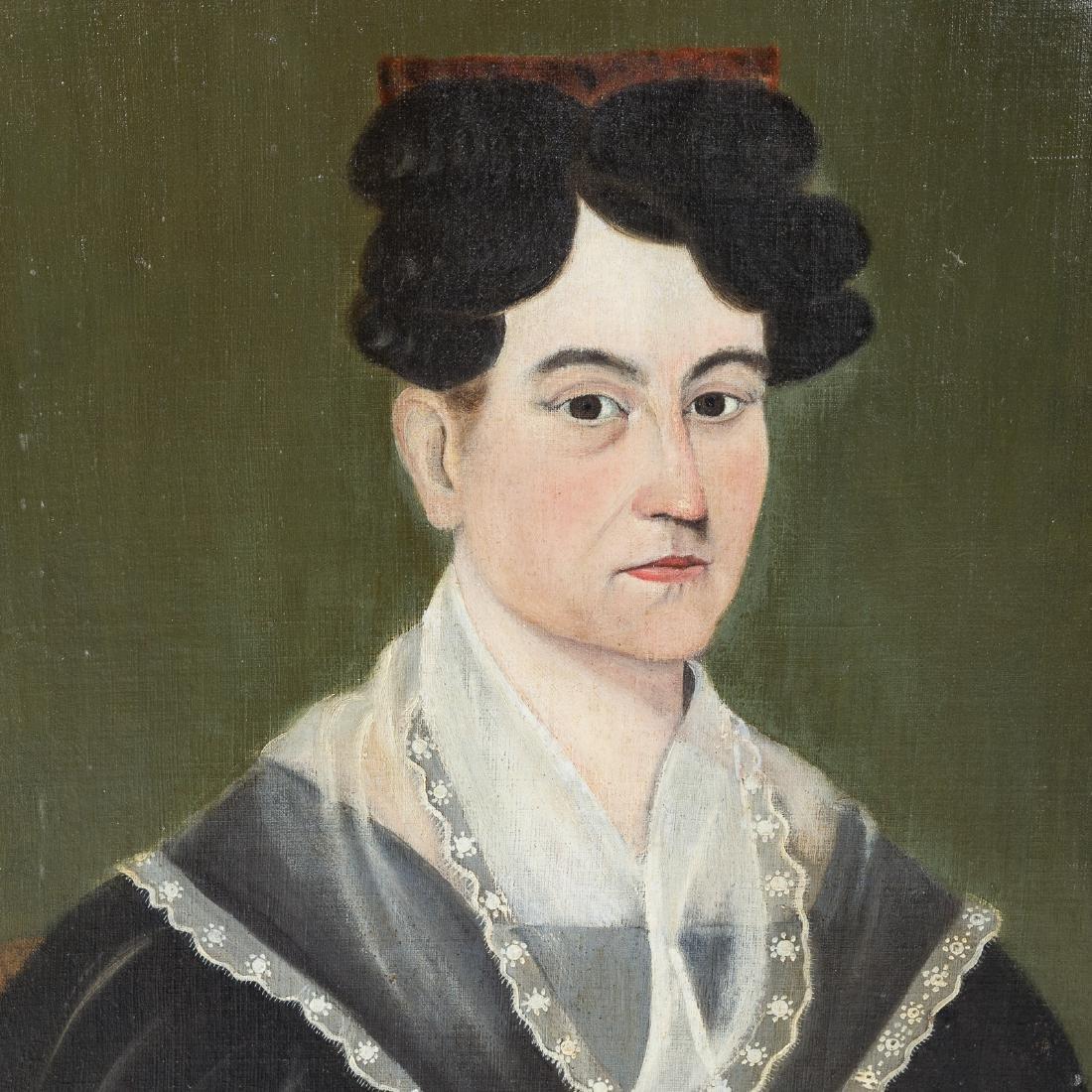 American School, 19th c. Portrait of a Woman, oil - 3