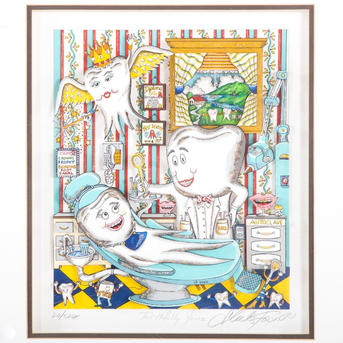 """Charles Fazzino. """"Toothfully Yours"""", serigraph - 2"""