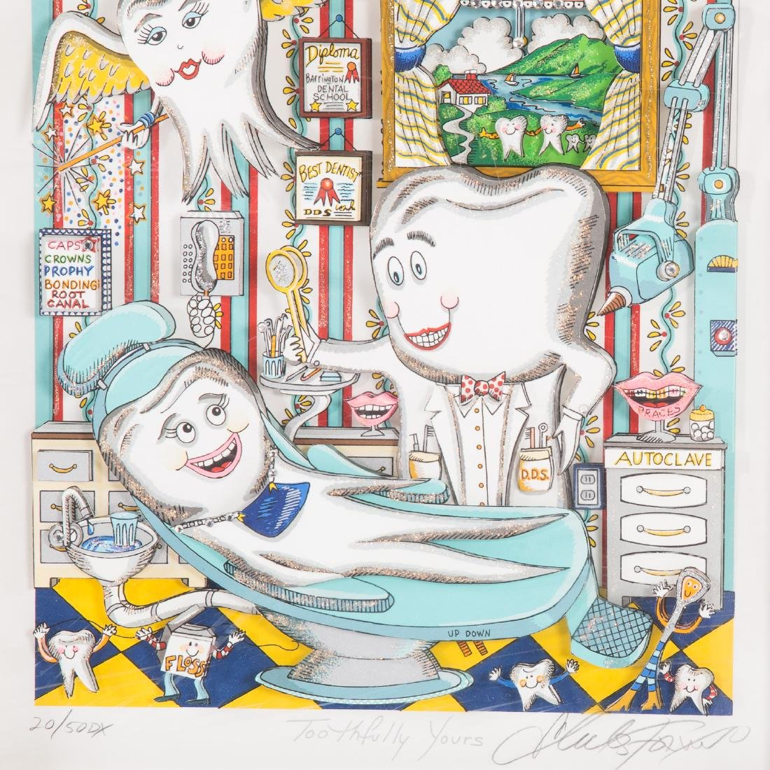 """Charles Fazzino. """"Toothfully Yours"""", serigraph - 3"""