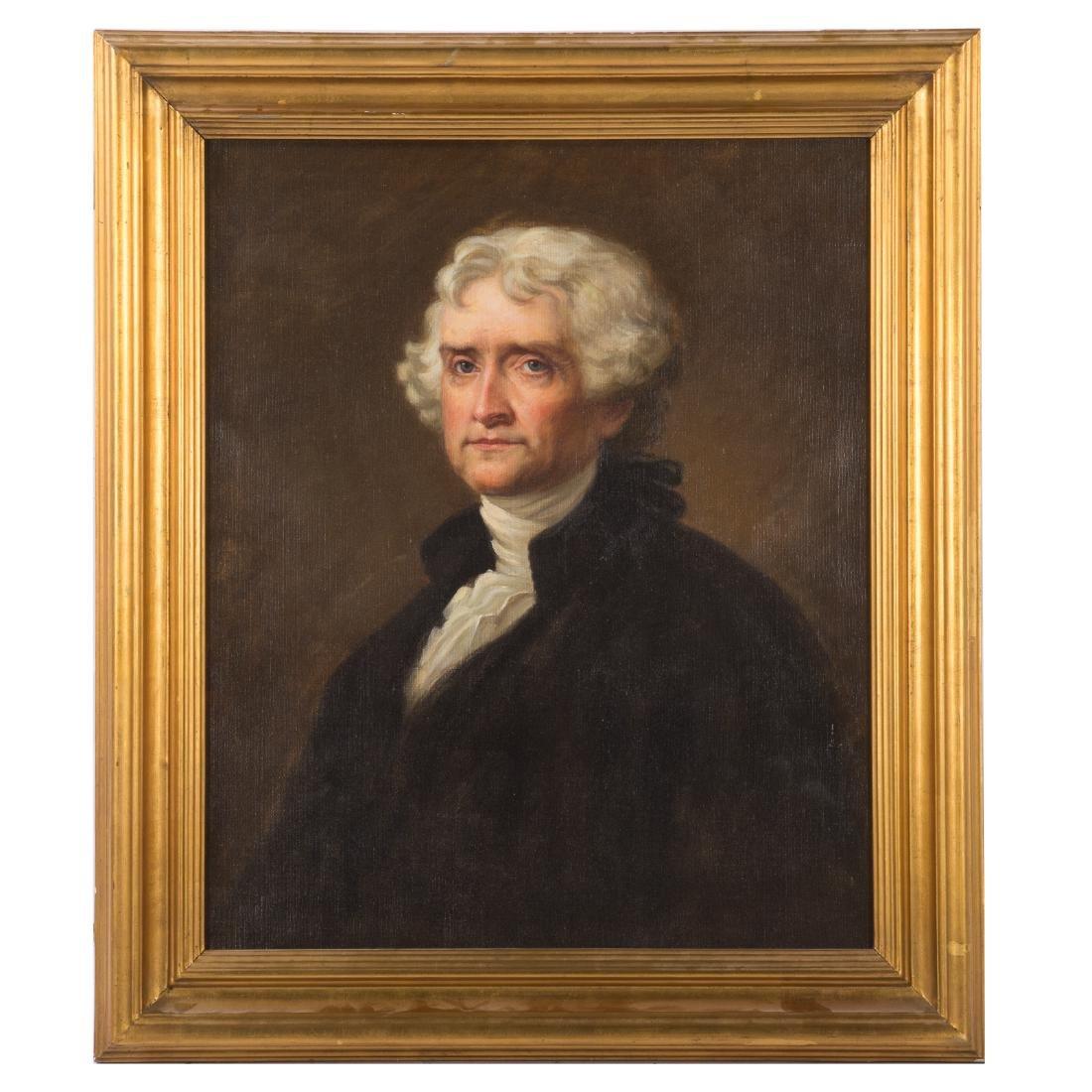 After Gilbert Stuart. Thomas Jefferson, oil