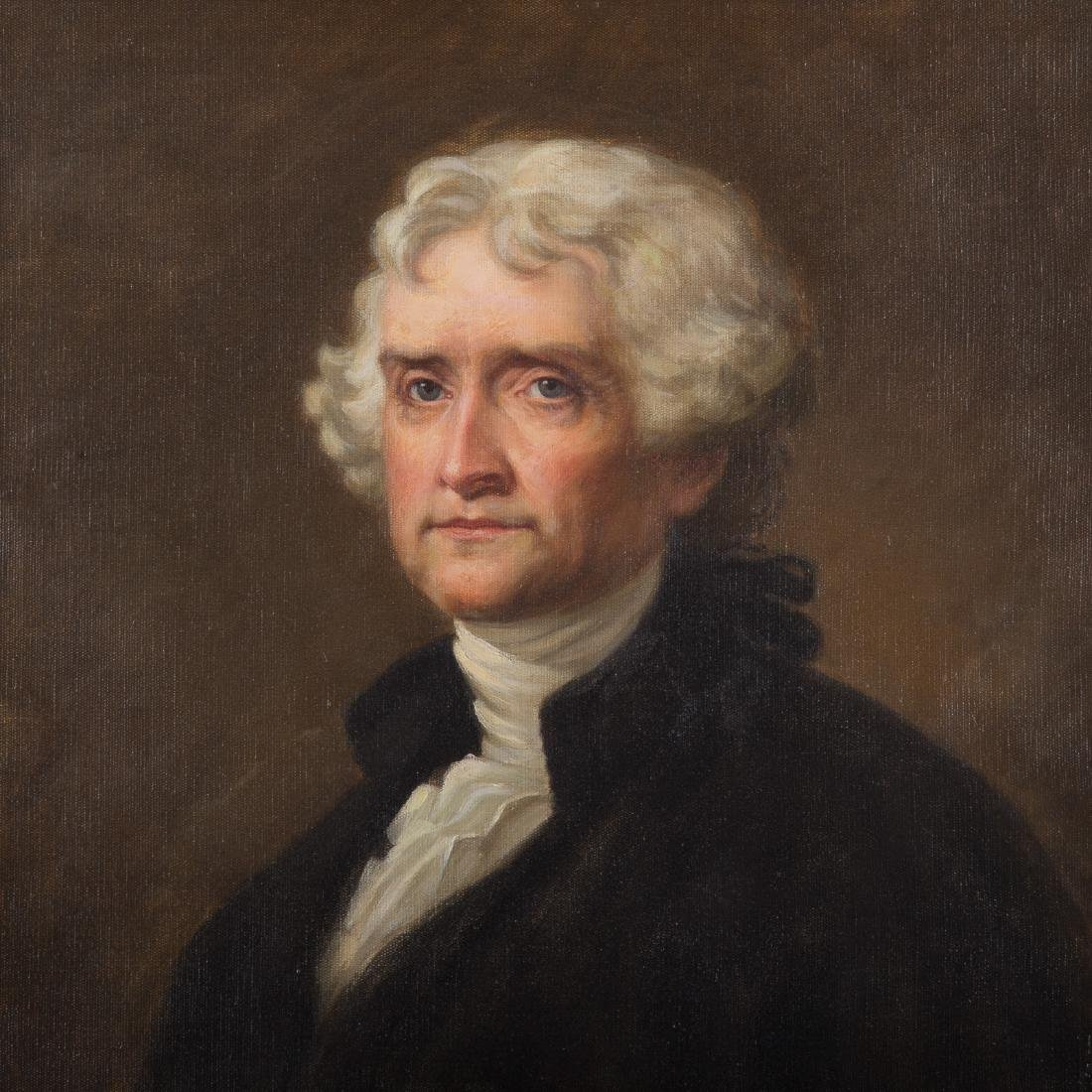 After Gilbert Stuart. Thomas Jefferson, oil - 2