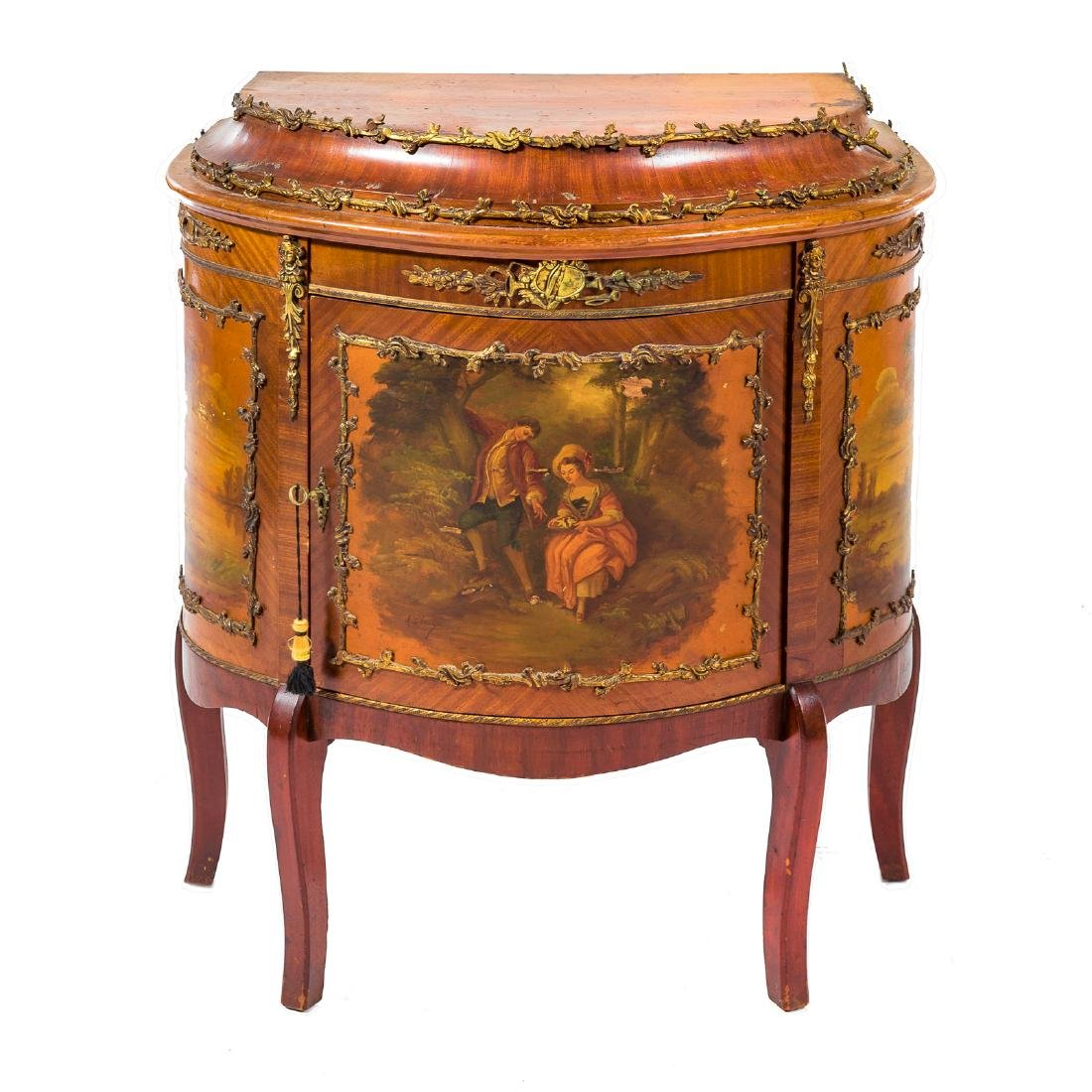 Louis XV style kingwood brass-mounted commode