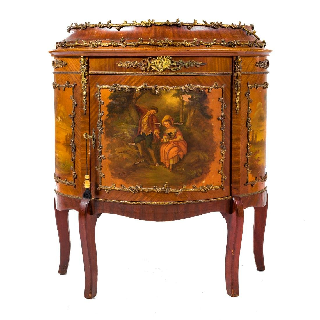 Louis XV style kingwood brass-mounted commode - 2